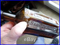 Log Cabin Sarsaparilla Rochester, N. Y, Tooled Top, Sm. Base With Pat. Sept. 6,87