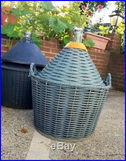 Lot (6) demijohn basket 54 liter Yonkers NY winemaking bottles jugs wine decor