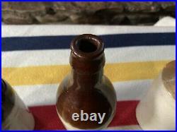 Lyons, New York, Stoneware Ginger Beer Bottles, Complete Triple Set