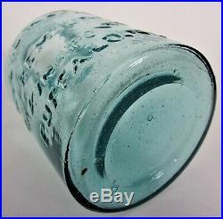 MINT Darker Aqua Jar AYERS & LEWIS PREMIUM BAKING POWDER BUFFALO, NY