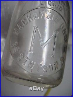 Mackenzie Bros. Dairy 39 Stutson Street Rochester N Y Milk Bottle Wow