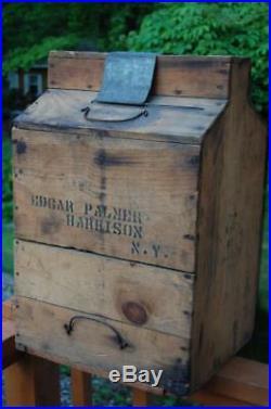 Macy & Jenkins Whiskey Advertising Bottle Crate Ny Edgar Harrison Prohibition