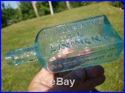Medicine Cure Bottle Quack DR SAWENS WATERTOWN N. Y. WITTLED CRUED MINT
