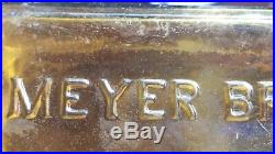 Meyer Bros & Co a Bitters Buffalo New York square RARE Golden Amber