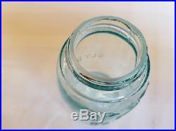 Midget Pint CLYDE NY Masons CFJCo Patent Nov 30th 1858 Fruit Jar