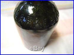 Mint Dark Olive Green Clarke & Company Saratoga NY Mineral Spring Water Bottle