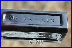 Mrs. S. A. Allen's World Hair Restorer New York Black Glass (puce)