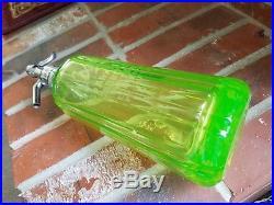 Mt Kisco Seltzer Bottle Vaseline Pyramid Shaped Syphon From Ny Mint