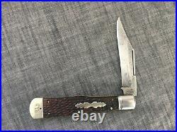 NEW YORK KNIFE CO Walden NY 187 Hunter Coke Bottle Pocket Knife Hammer Brand