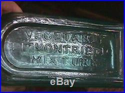 NICE 1860's VAUGHN'S VEGETABLE LITHONTRIPTIC MIXTURE BUFFALO N Y MEDICINE BOTTLE