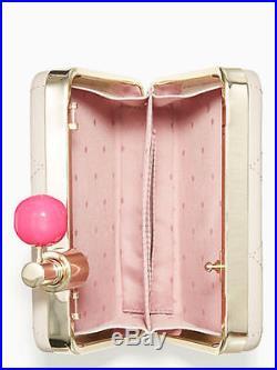 NWT Kate Spade New York Pink On Pointe Perfume Spray Bottle Clutch Shoulder Bag