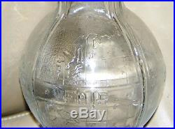 New York 1938-1940 $2600.00 1st Worlds Fair Clear Glass Bottle with Cap