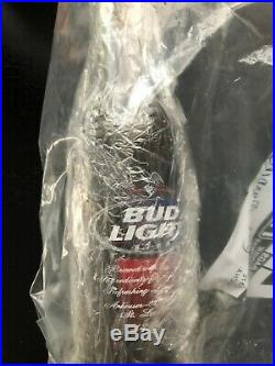 New York Giants Eli Manning 2007 Superbowl XLII Signed Budlite Beer Bottle RARE