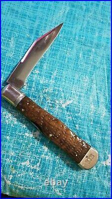 New York Knife Co Hammer Brand Large Coke Bottle 1856 to 1931 Antique Bone Rare