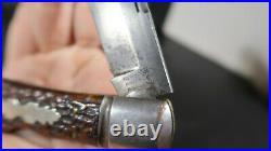 New York Knife Company LARGE Coke Bottle Single Blade Folding Knife