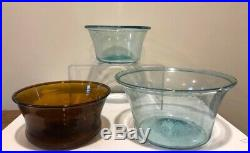 New York State Blown Glass Serving Bowl Heavy & Crude