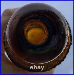 Nice Bright Orange Amber H H Warner & Co Rochester NY Tippecanoe Bitters Bottle