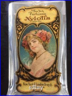 Nylotis New York Perfumes NY & London Drug Co. Antique Perfume Bottle VERY RARE