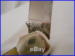 Olcut Folding Knife Union Cutco Hunting Coke Bottle Oclean NY USA Made Vintage