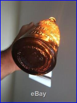 Old Bottle Western CC HALEY CALIFORNIA POP BEER 1872 Matthews Patent NY Crude