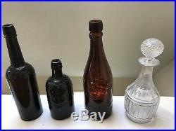 Old Bottle Western CC HALEY CALIFORNIA POP BEER 1872 Matthews Patent NY Crude