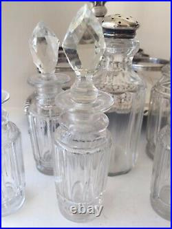 Old Cruet Set with Eight Bottles Engraved N. Y. S. E. G. A. 1963