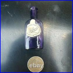 Old Deep Purple Palmer Perfume Bottle W. 2 Labels-Clean Antique New York Bottle