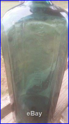 Old Dr J. Townsend's Sarsaparilla New York Bottle Aqua Excellent Condition