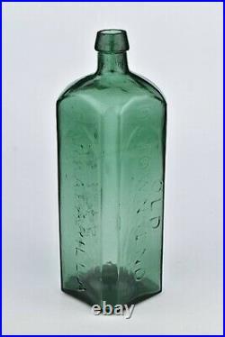Old Dr. Townsend's Sarsaparilla Bottle New York Iron Pontil Whittled