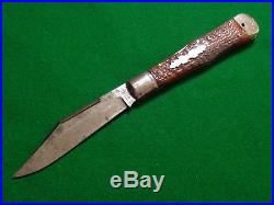 Old RARE New York Knife Hammer Brand Large COKE Bottle Folding Hunter Lock Back