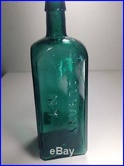 Old Teal Blue Green Dr. Townsends Sarsaparilla Albany New York Bottle
