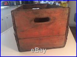 Old Vintage Orange Crush Soda Bottle Case 1954 Schenectady Ny