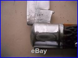 Old antique new york knife co. 5 1/2 inch coke bottle lock back pocket knife