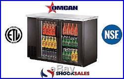 Omcan 31861 Commercial 49-inch 11.8 cu. Ft. 2 Doors Bottle Cooler New York