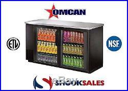 Omcan 31862 Commercial 61-inch 15.8 cu. Ft. 2 Doors Bottle Cooler New York