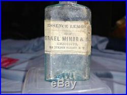 Open Pontil Israel Minor & Co. Fulton Street, NY Medicine Bottle, Essence Lemon