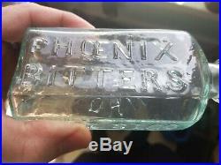 Open Pontil John Moffat Phoenix Bitters Ring Top New York 1855 Free Ship Sparkle