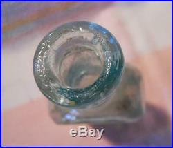 Open Pontil Mrs SA Allen's World Hair Balsam New York Medicine Bottle With Label