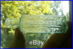 Open Pontil Negative Electric Fluid N. W. Seat MD New York Crude 1850 Medicine