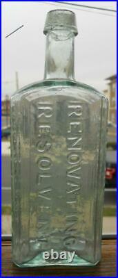 Open Pontil Radway's Renovating Resolvent New York Large Scarce Medicine Bottle