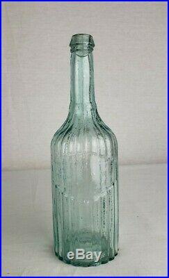 Open Pontil Ribbed Pepper Sauce Bottle M. & G. M. NY Super Crude Bubbly