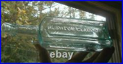 Open Pontil Rushton Clark & Co Chemists Ny Big 10medicine Bottle Crooked Lip