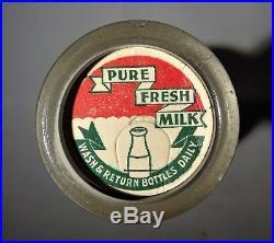 Original 1965 Woodstock Music Festival Yasgur Farms Bethel NY dairy milk bottle