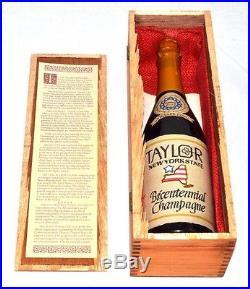 Original 1966 Taylor New York State bicentennial Champagne Full Bottle T44