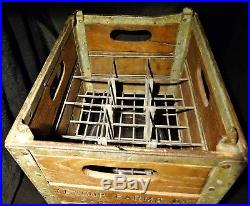 Original Yasgur Farms Dairy 1957 Wooden Milk Crate Bethel Ny Pre Woodstock Era