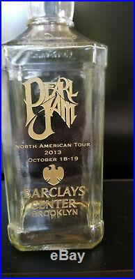 PEARL JAM Jack Daniels Whiskey Bottle from Barclay's Center Brooklyn NY RARE