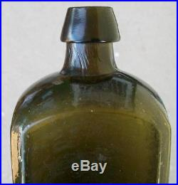 PONTIL OLIVE GREEN With CITRON DR. TOWNSENDS SARSAPARILLA ALBANY NEW YORK BOTTLE