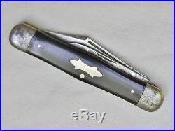 PRENTISS KNIFE CO New York, NY-scarce c. 1910 COKE BOTTLE folder-burgundy scales