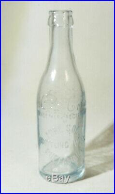 PURE SODA BOTTLING WORKS Antique vtg COCA-COLA Bottle BUFFALO NY Straight Side