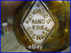 Perfect Labelcirca 1871amberhayward 407 Hand Thrown Fire Extinguishern. Y